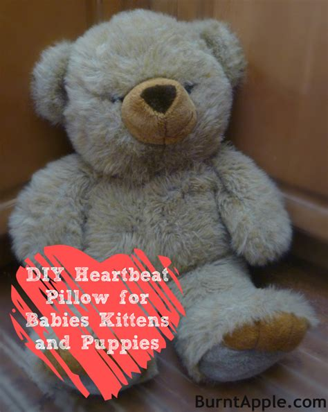 Pillow With Heartbeat by Diy Heartbeat Pillow For Puppies Kittens And Babies