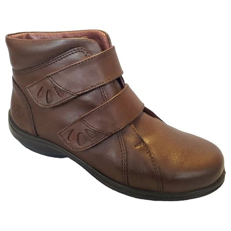 easy b womens legacy brown leather wide ankle boots 78127b