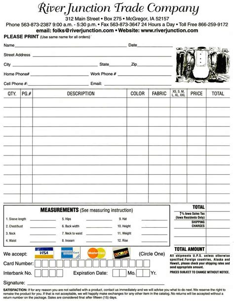 credit card order record template store policy