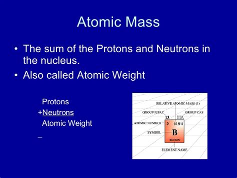 Sum Of Protons And Neutrons Atomic Structure And Bonding