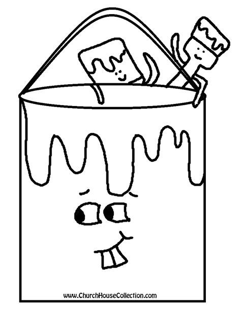 Bucket Coloring Pages Paint Coloring Pages