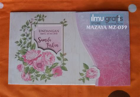 Blangko Undangan Mazaya Mz 03 Cantik mazaya album 4 undangan soft elegan fresh and colorful