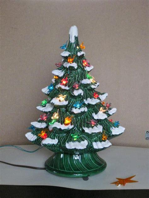 vintage ceramic tree electric plastic bird bulbs