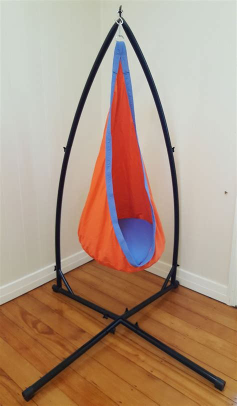 Orange And Blue Cotton Sensory Swing With Stand Heavenly