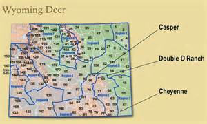 map of hunt wyoming hunt area map my