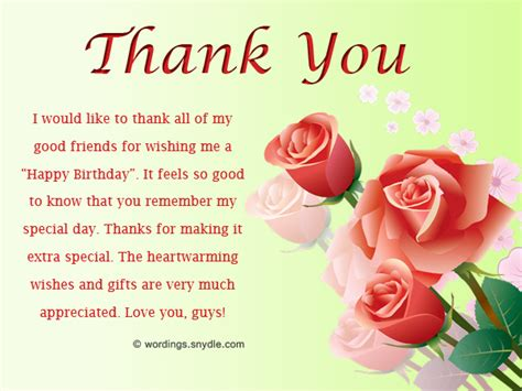 thank you letter to friend for birthday gift thank you messages sms for the birthday wishes and cards