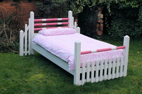 Handcrafted Beds - handmade pony bed in pink