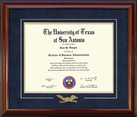 Utsa Mba Program by Utsa Diploma Frame With Embossed Rowdy Wordyisms