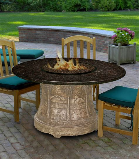 granite pit table costco california outdoor concepts 7320 palm dining height pit