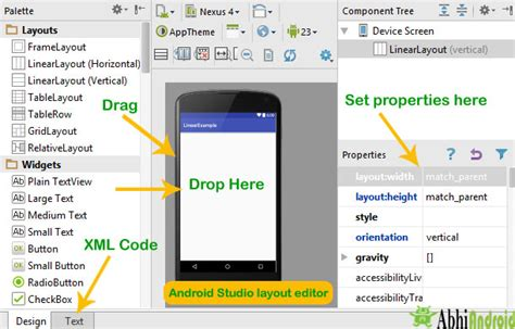 Android Studio Layout Editor Tutorial | android ui and layout design tutorial exles and code