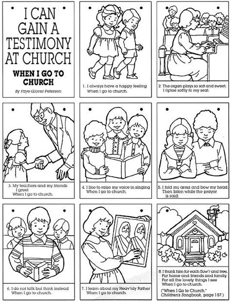 lds coloring pages sabbath day church personalized books and my family on pinterest
