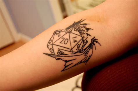 dungeons and dragons tattoo 25 awesome dice tattoos