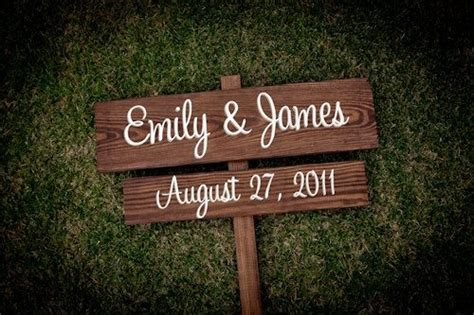 Wedding Announcement Order Of Names by Wedding Signs Names Date Save The Date By