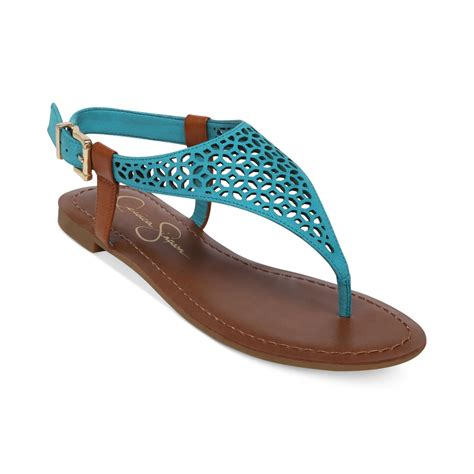 blue sandals grile flat sandals in blue lyst