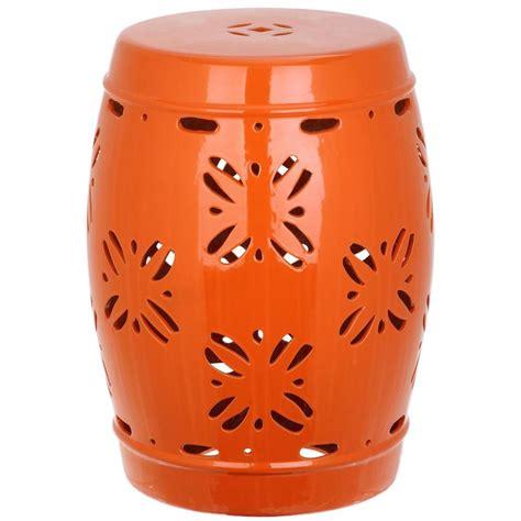 Orange Garden Stool by Safavieh Orange Garden Patio Stool Acs4543d The Home Depot