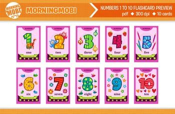 printable numbers 1 to 10 flash cards by morningmobi | tpt