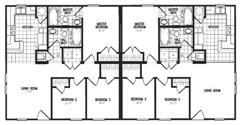 manufactured duplex floor plans duplex model 3060