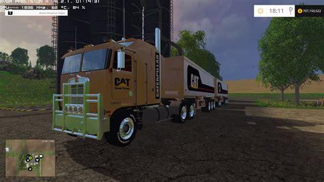 cat trailer cat truck trailer 350 000 liters mod farming