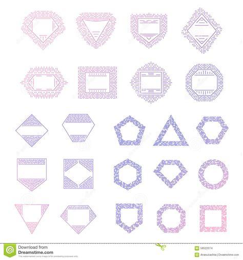 colorful logo design elements vector set colorful vector logo templates set stock vector image