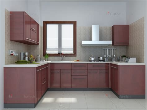 Type Of Kitchen Cabinets by U Shaped Modular Kitchen Designs