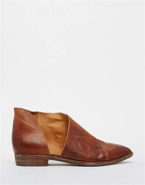 cut out flat shoes free free leather cut out flat shoes at asos