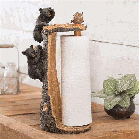 Bear Climbing Paper Towel Holder