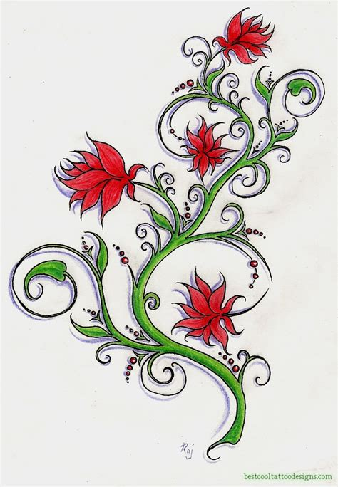 flower tattoo flash flower designs flash page 2 of 2 best cool