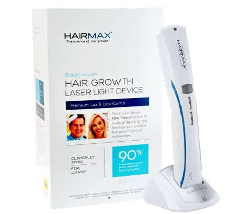 qvc hairmax lasercomb lux 9 hairmax lux 9 hair growth laser comb page 1 qvc com