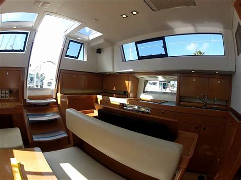 Sense Interior by 2012 Beneteau Sense 43 Walkthrough Listed In Marina