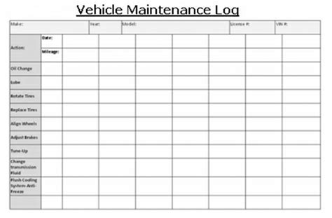 vehicle maintenance log book template the challenges today for fast plans of vehicle maintenance