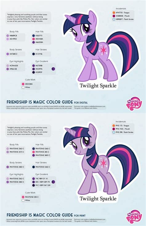 baby color guide twilight sparkle color guide 2 0 updated by kefkafloyd