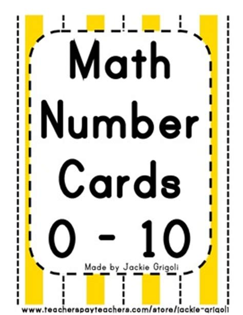 printable number cards 0 10 math number cards 0 10 numbers words and symbols by