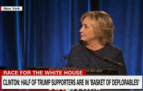 hillary clinton meme deplorable hillary half of trump supporters belong in a basket of