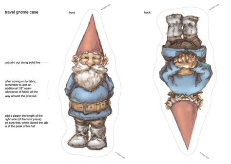printable paper gnomes free printable david the gnome kunst pinterest