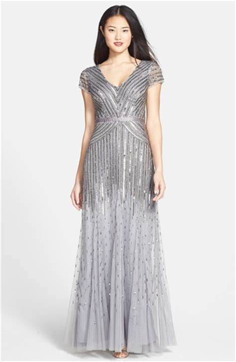 adrianna papell embellished draped mesh gown adrianna papell embellished mesh gown where to buy how