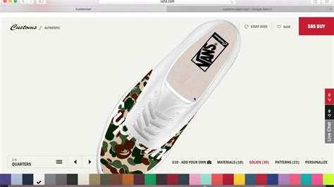 Supreme X Bape supreme x bape custom vans for 85