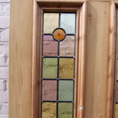 Bullseye Glass Door 4 Panel Bullseye Stained Glass Door Period Home Style
