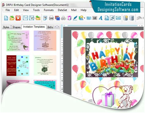 invitation graphic design software office suites tools birthday cards designing software