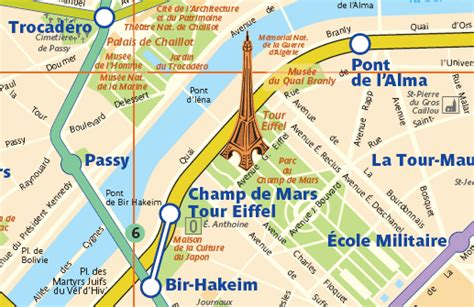 Map A4 Bunga Eiffel 10 closest metro stations to the eiffel tower by