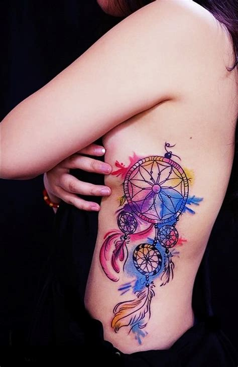 colorful dreamcatcher tattoos 25 colorful catcher that will be uniquely