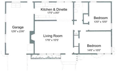 floor plan of 2 bedroom house simple house plan with 2 bedrooms house floor plans
