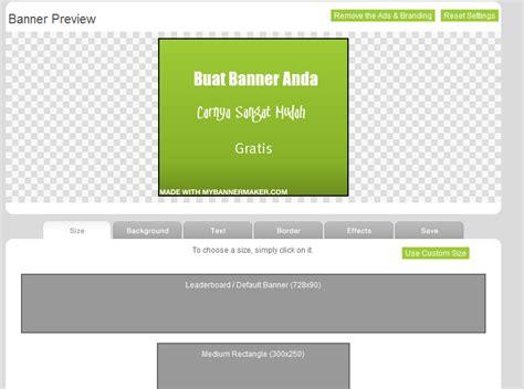 membuat banner iklan online cara membuat banner online buat blog mudah banget mazmuiz