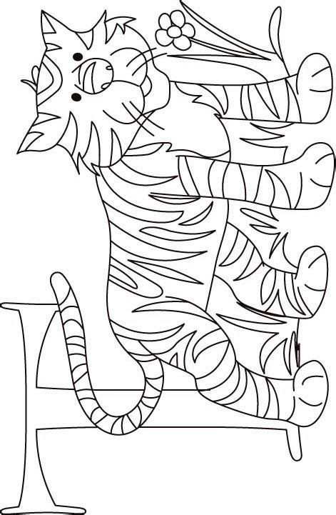 tiger t coloring page t coloring pages coloring home
