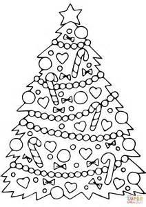 Decorated Christmas Tree Coloring Online Decorated Tree Coloring Page