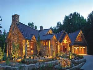 Mid Century Modern Ranch House luxury log home plans biggest luxury log home country log