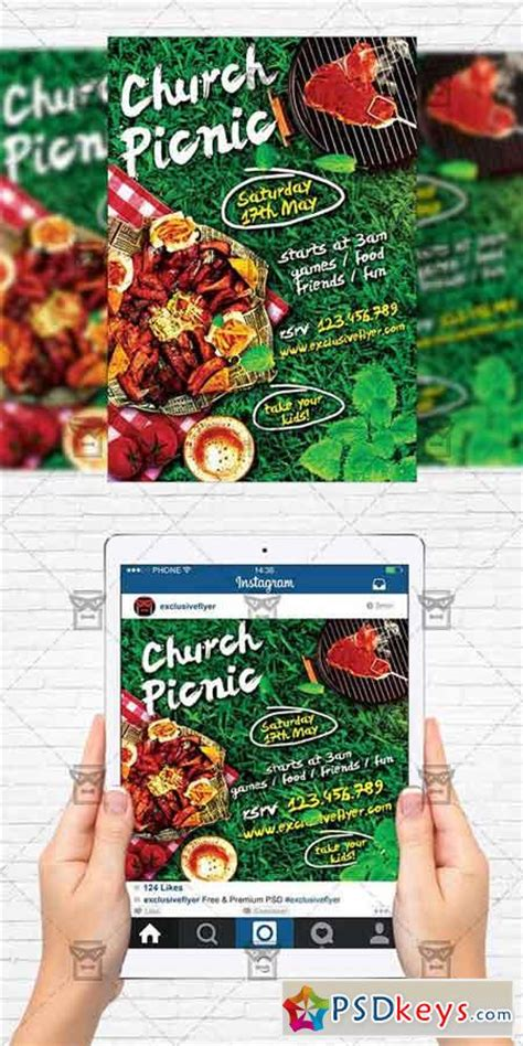 Church Picnic Flyer Template Instagram Size Flyer 187 Free Download Photoshop Vector Stock Instagram Flyer Template