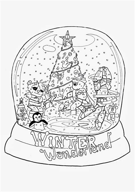 free coloring pages of snow globes