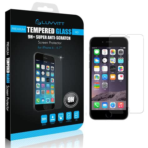 luvvitt tempered glass screen protector  iphone    crystal clear  ebay