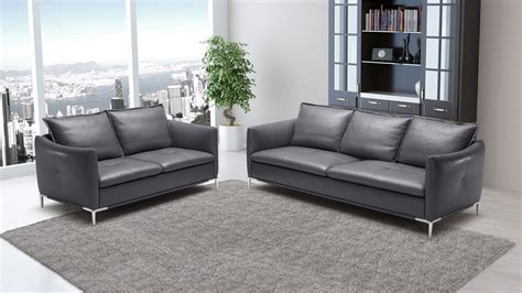 grey bristol leather sofa set with loveseat and chair