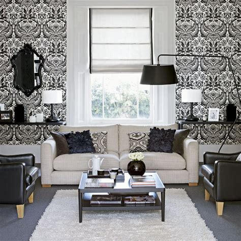 wallpaper designs for living room monochrome mondays stripe not strike room envy